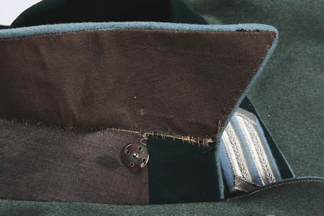Lot of 4: German WWII Heer Officers Dress Tunic, Visor - 10