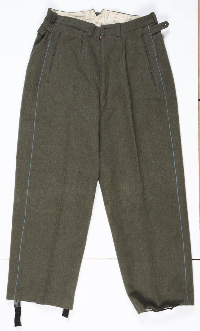 Lot of 4: German WWII Heer Officers Dress Tunic, Visor - 2