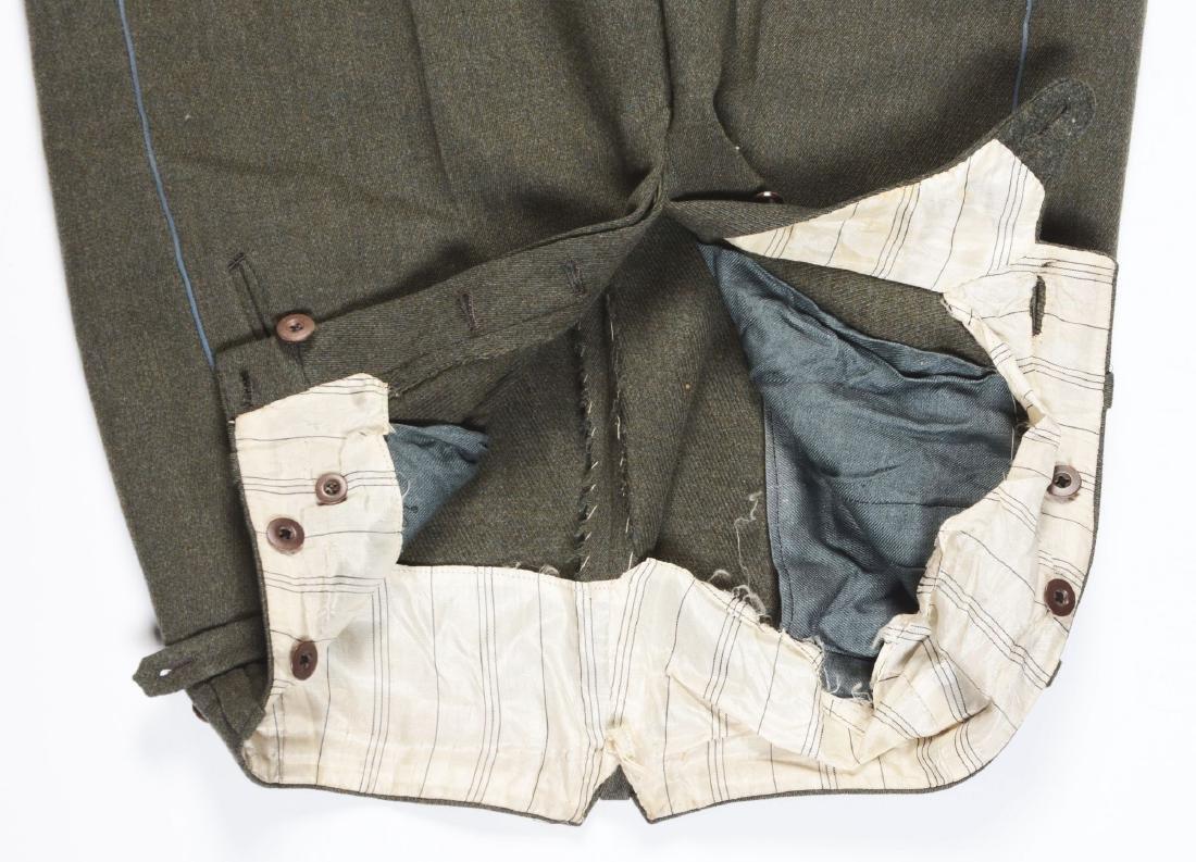 Lot of 4: German WWII Heer Officers Dress Tunic, Visor - 4
