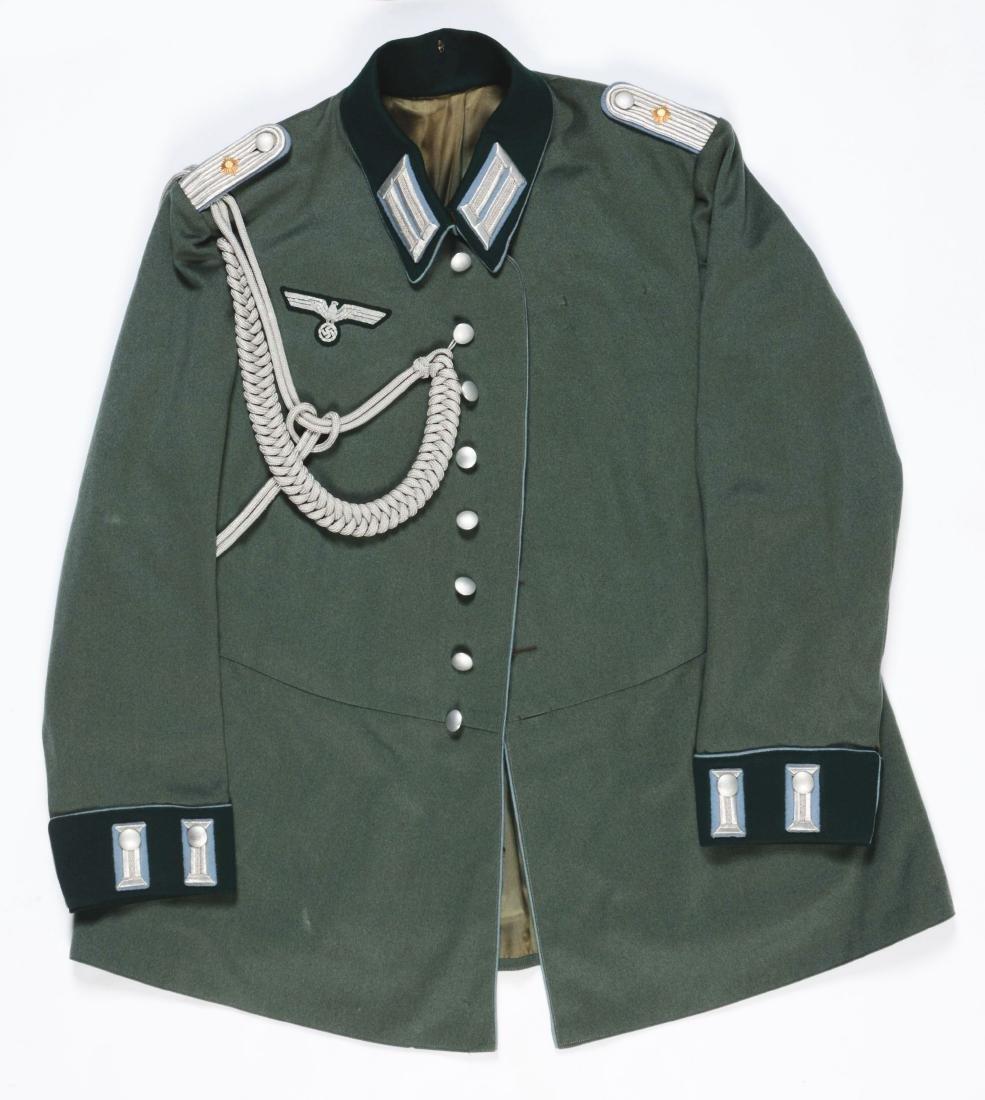 Lot of 4: German WWII Heer Officers Dress Tunic, Visor - 6