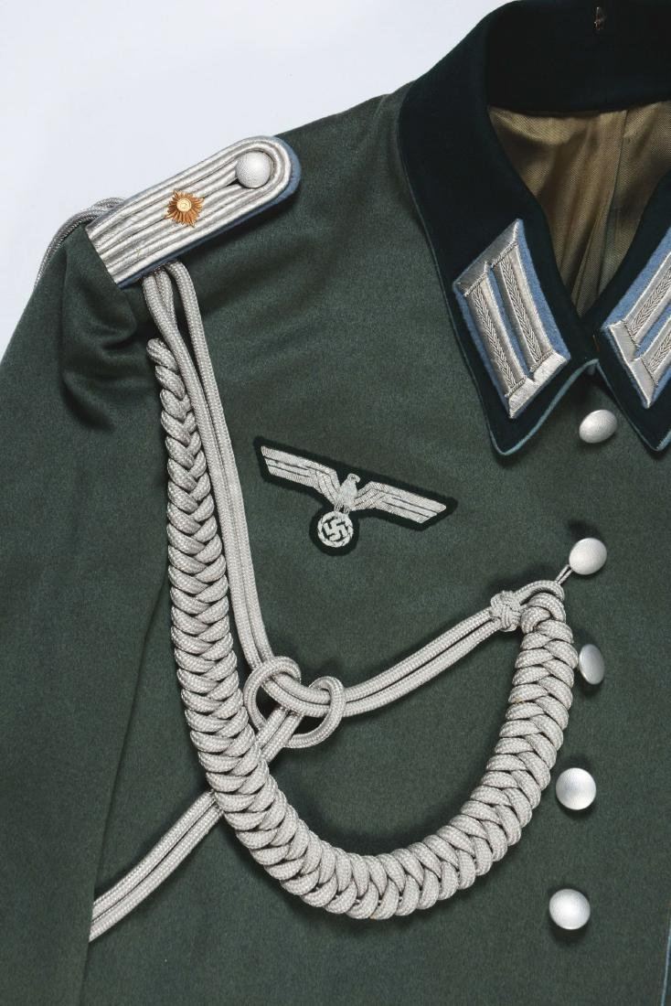 Lot of 4: German WWII Heer Officers Dress Tunic, Visor - 7