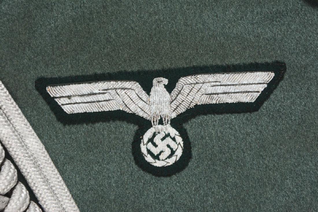 Lot of 4: German WWII Heer Officers Dress Tunic, Visor - 8