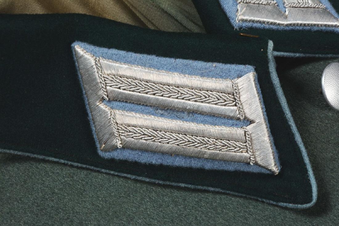 Lot of 4: German WWII Heer Officers Dress Tunic, Visor - 9