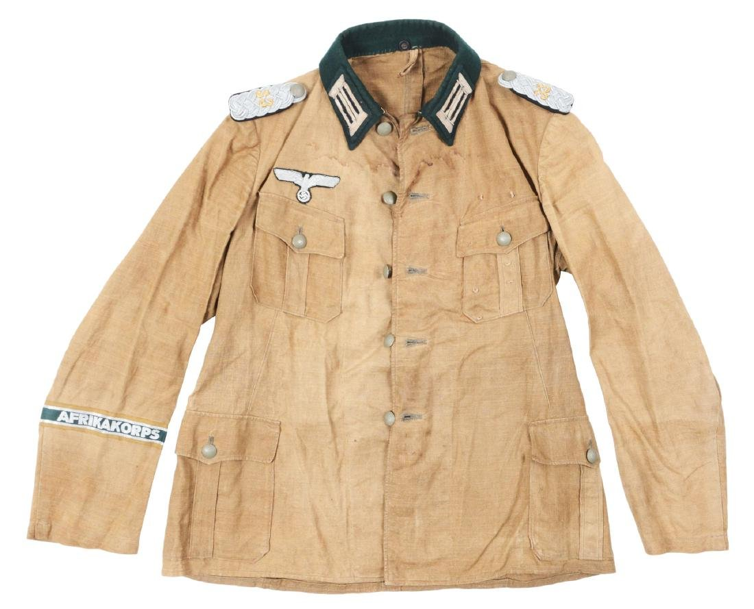 German WWII Afrikakorps Heer Pionier Officer Tunic.