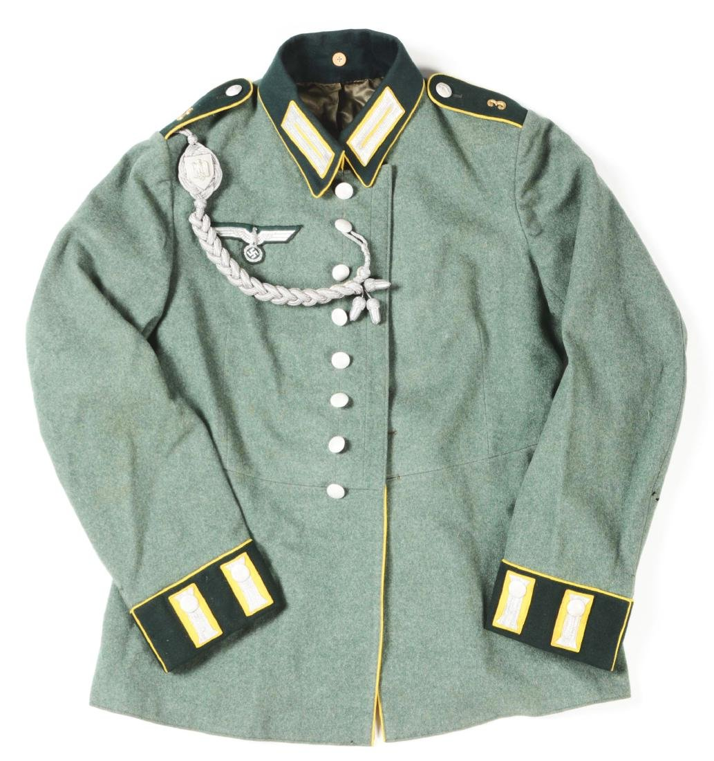 Lot of 3: German WWII Heer Signal Enlisted Dress Tunic, - 2