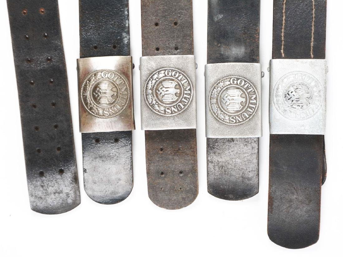 Lot of 9: German WWII Belts with Buckles. - 2