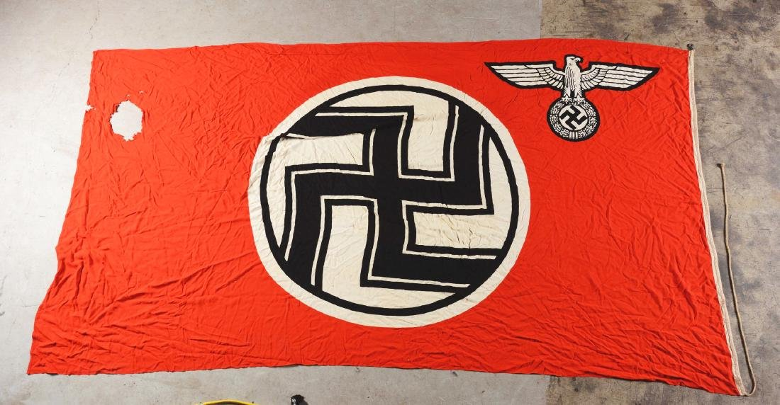 Large WWII Nazi German State Flag. - 2