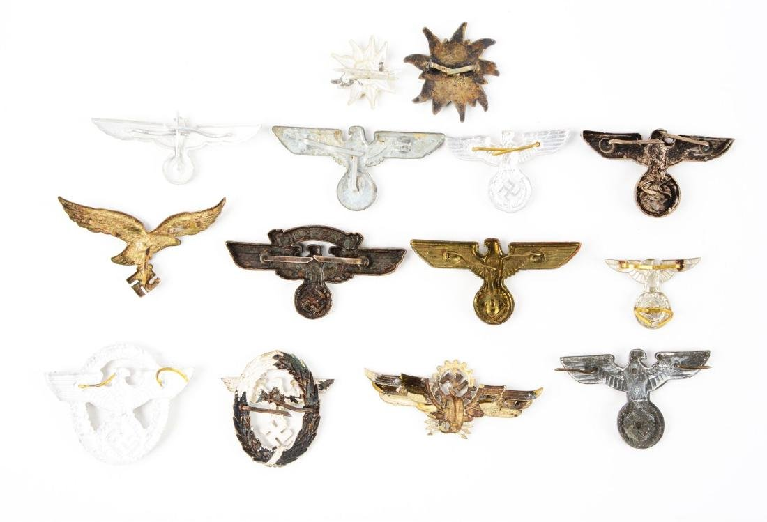 Lot of 14: Assorted German WWII Cap Badges. - 2