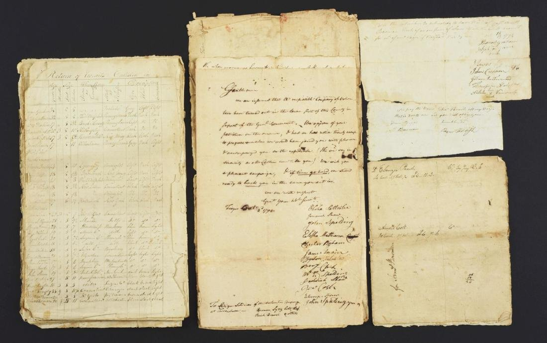 MILITARY PAPERS OF SAMUEL BOWMAN DURING THE WHISKEY