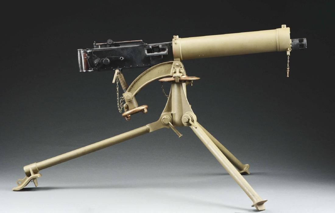 Demilled Vickers Smooth Jacket Dummy Machine Gun with