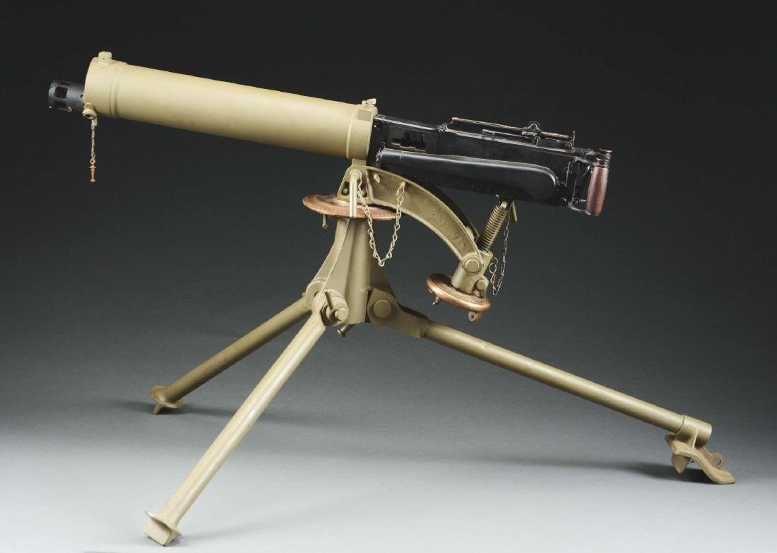 Demilled Vickers Smooth Jacket Dummy Machine Gun with - 2