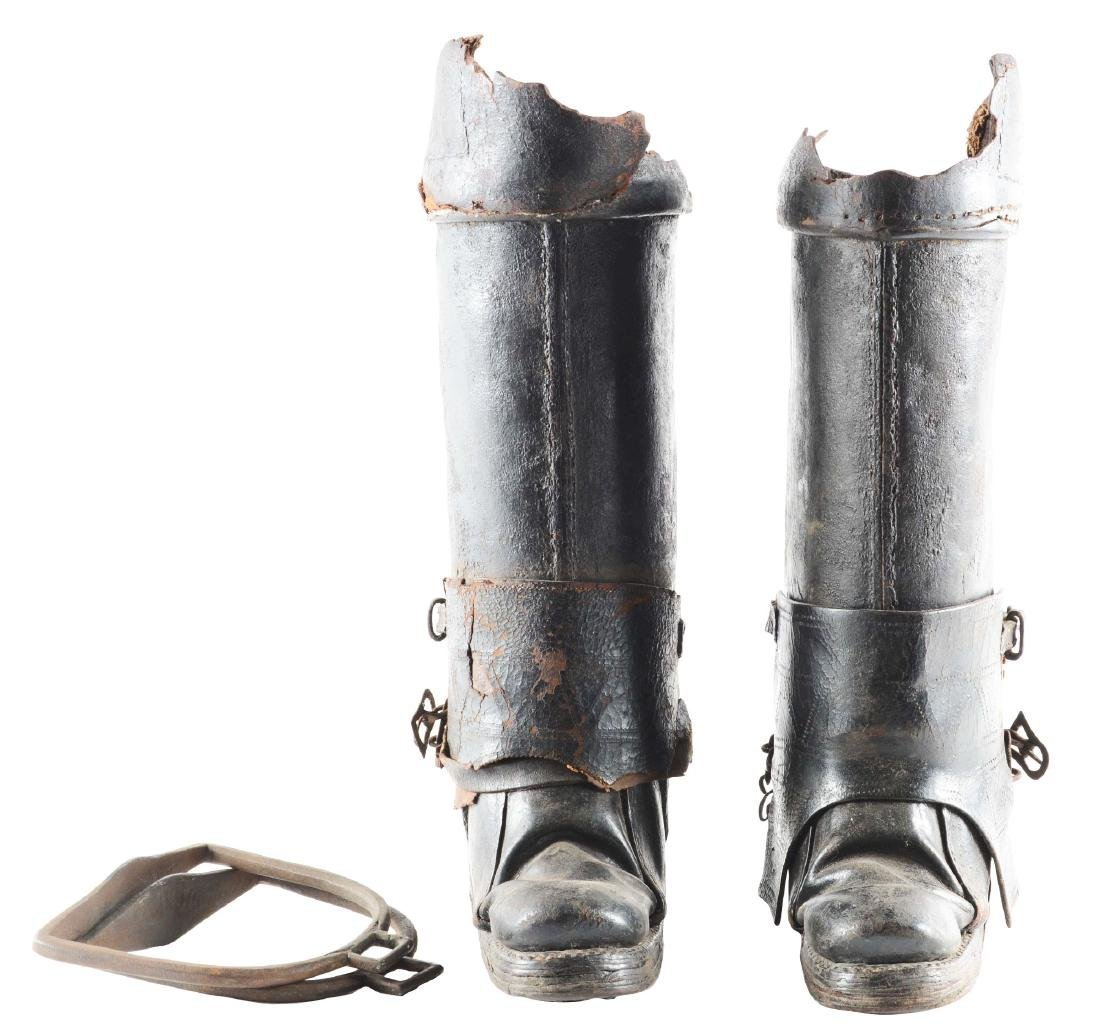 Very Rare Pair of Cuirassier Boots from the Second Half