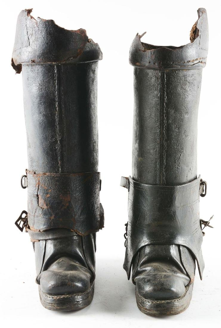 Very Rare Pair of Cuirassier Boots from the Second Half - 2
