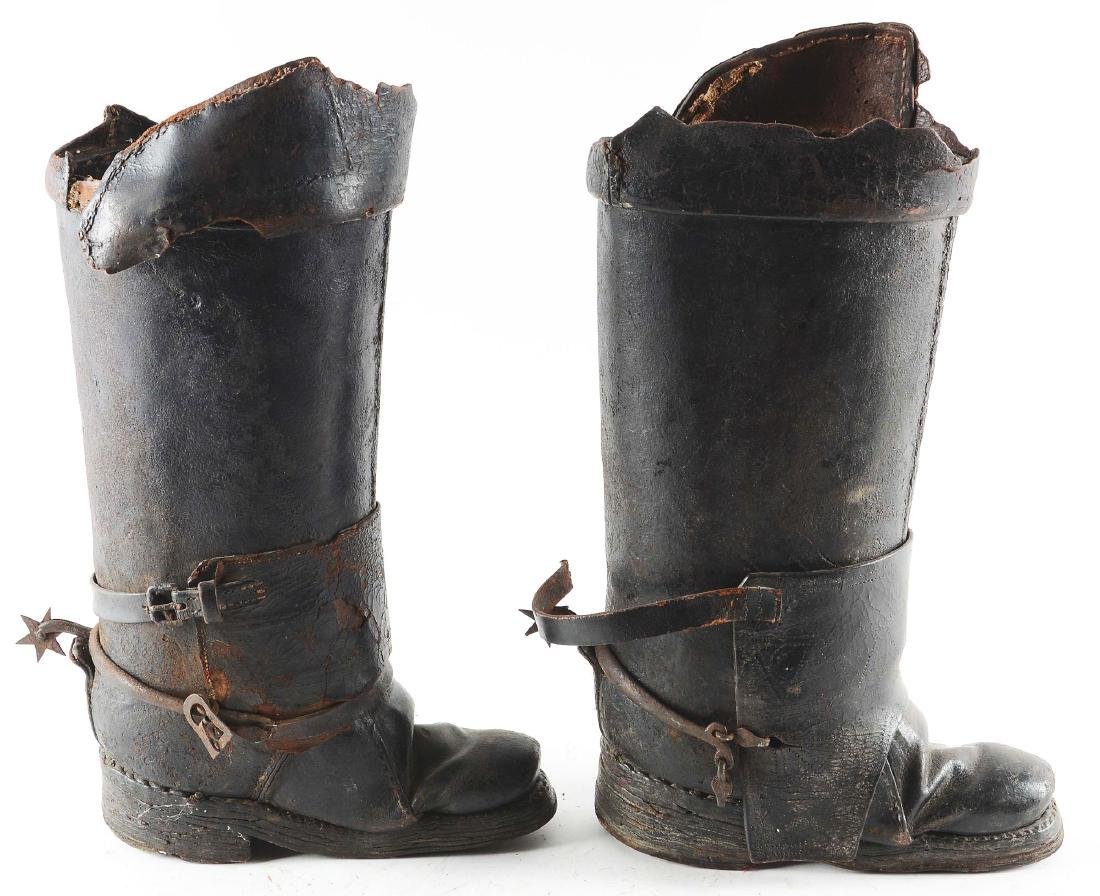 Very Rare Pair of Cuirassier Boots from the Second Half - 3