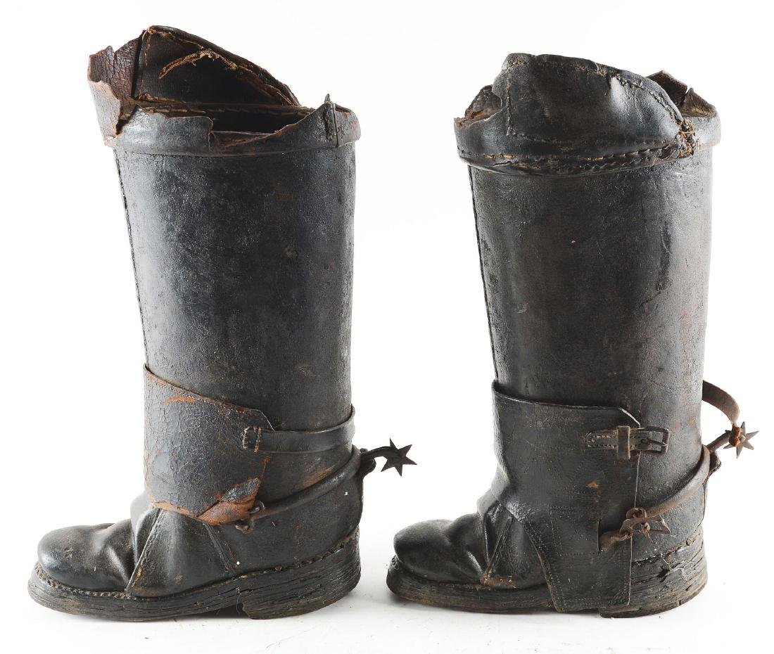 Very Rare Pair of Cuirassier Boots from the Second Half - 5
