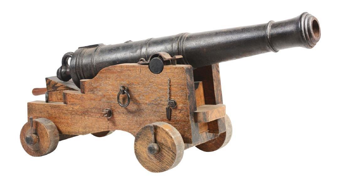 Good Napoleonic English 4 Pounder Iron Carronade.