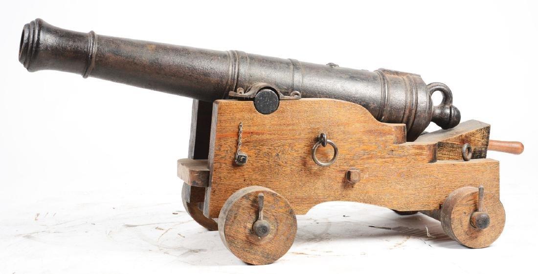Good Napoleonic English 4 Pounder Iron Carronade. - 2