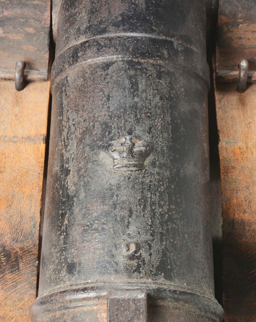 Good Napoleonic English 4 Pounder Iron Carronade. - 3