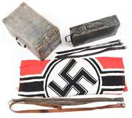 Lot of German WWII Items: Ammo Can with Ammo, MG34