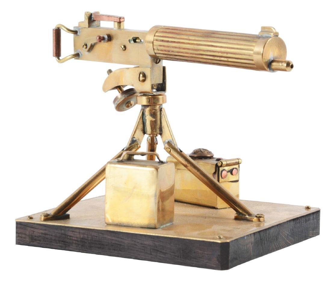 Trench Art WWI British Vickors Machine Gun Ink Well.