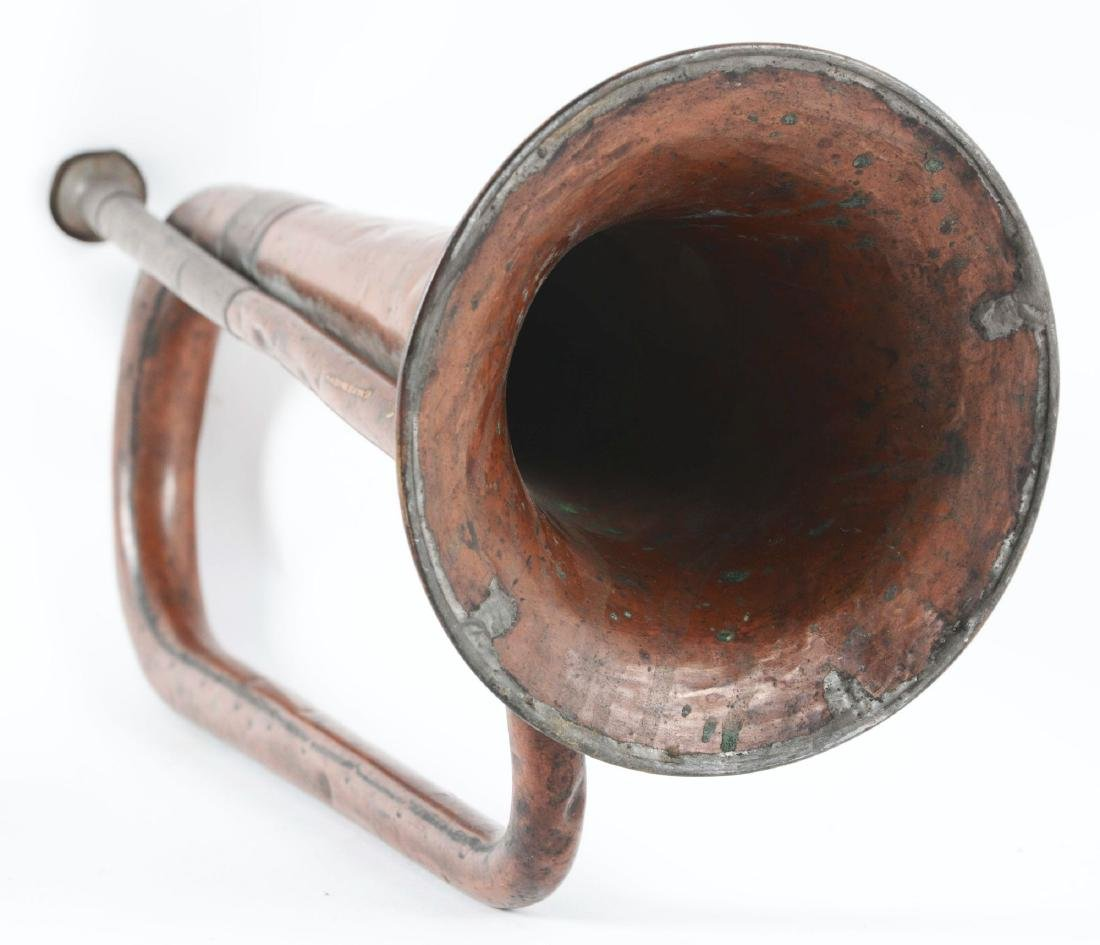 11th Maine Inscribed Regulation Civil War Issue Bugle. - 3