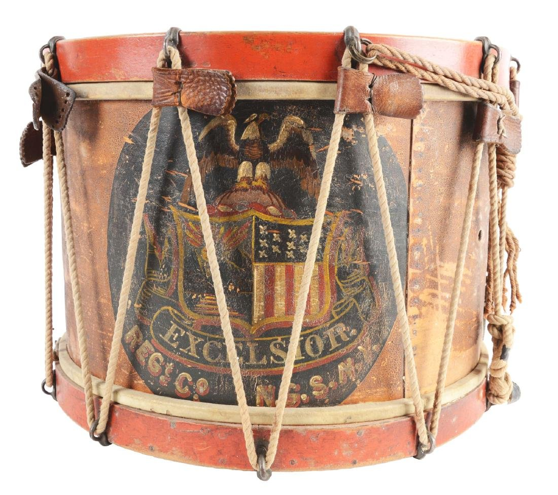 19th Century New York National Guard Snare Drum.