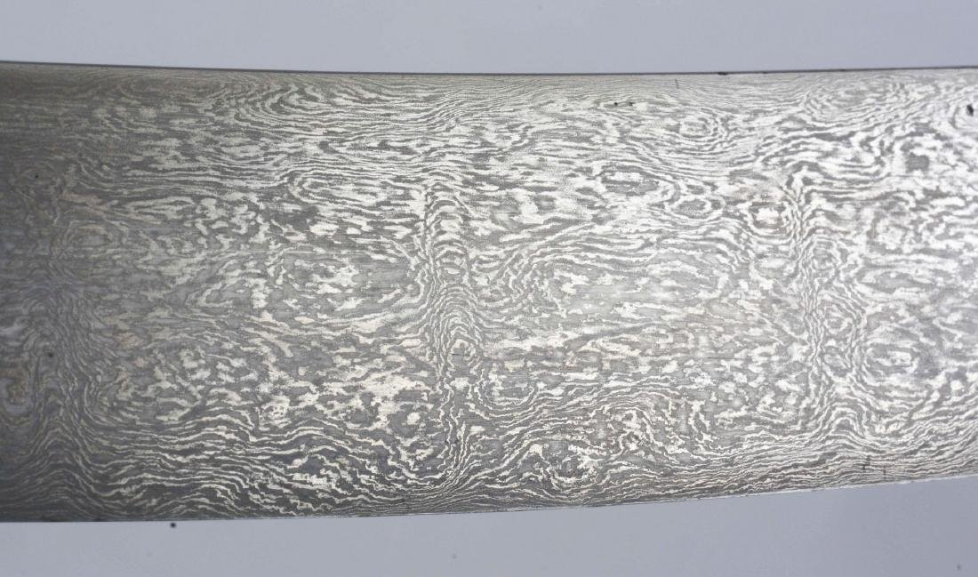 Important 18th Century Indian Talwar with Signed Wootz - 7