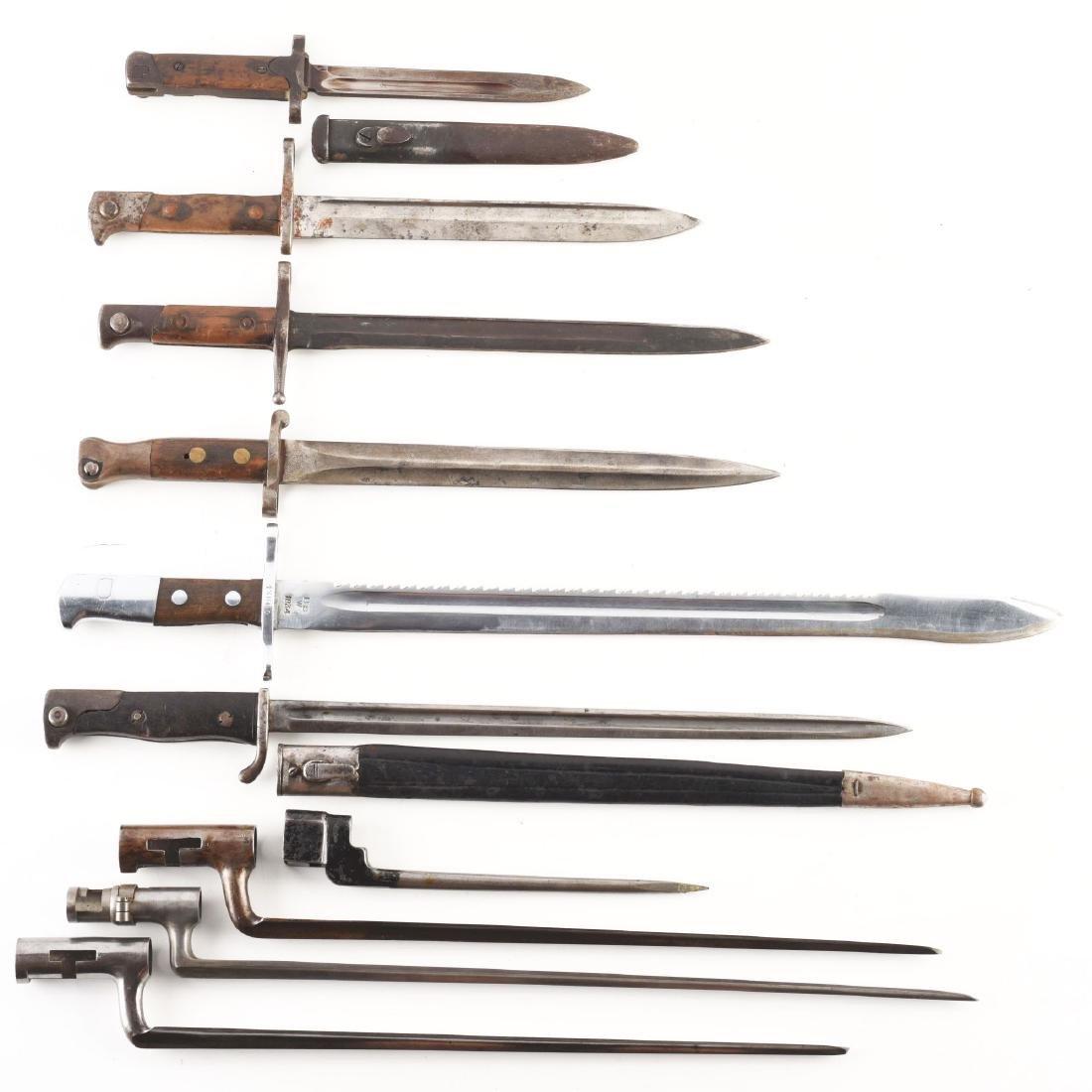 Collectors Lot Of 10 Bayonets Both European and