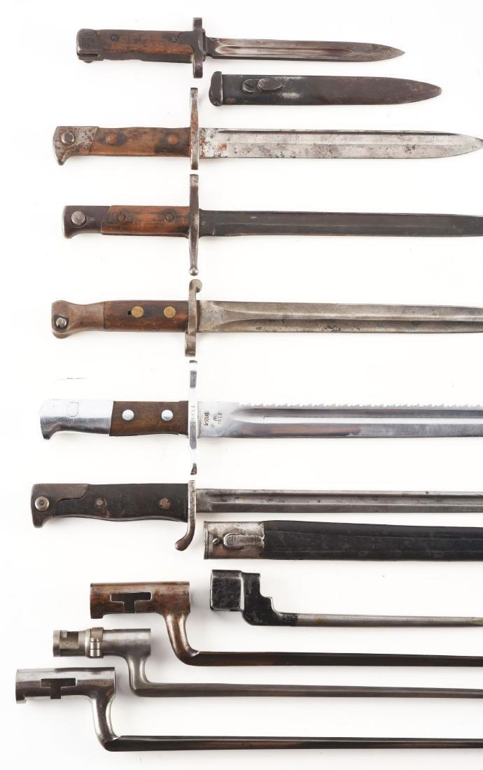 Collectors Lot Of 10 Bayonets Both European and - 2