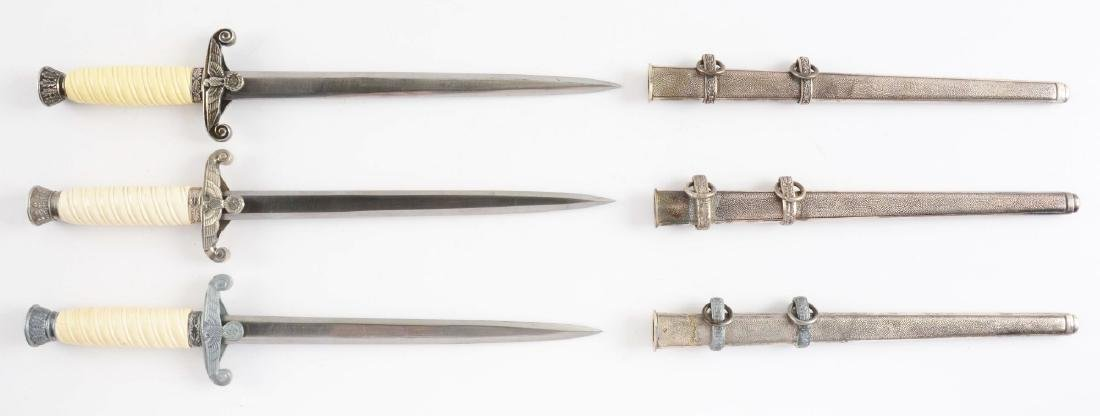 Lot of 3: Third Reich Parts/Reproduction Daggers