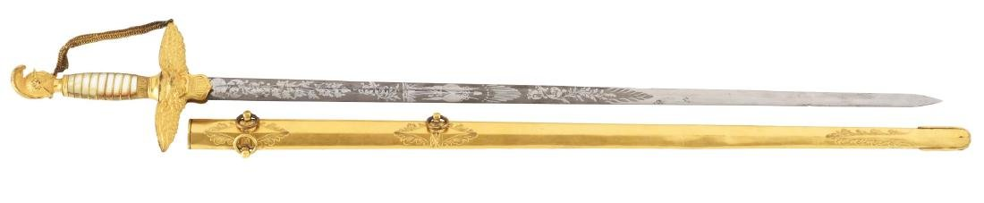 Presentation Grade Civil War Militia Officer's Sword by