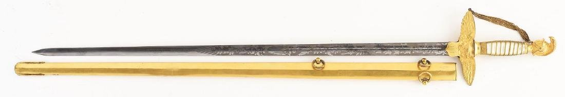 Presentation Grade Civil War Militia Officer's Sword by - 2
