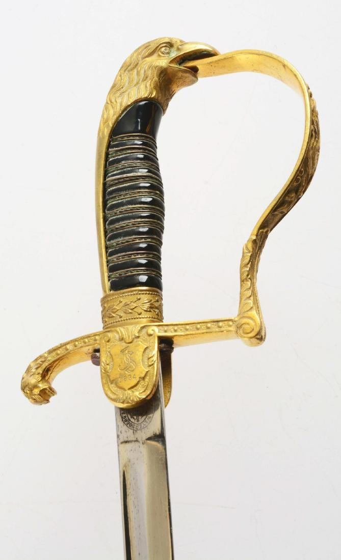 Third Reich Prison Official's Sword with Dedication. - 4
