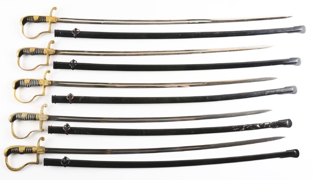 Lot of 5: Third Reich Dove Head Swords.