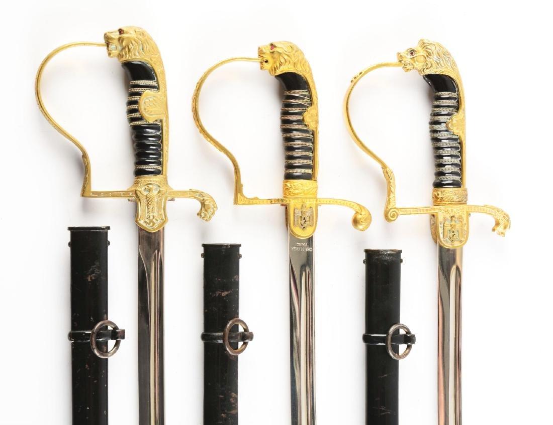 Lot of 3: Third Reich Lion Head Swords. - 2