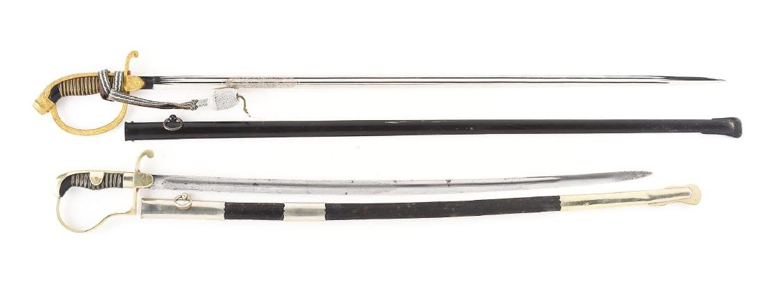 Lot Of 2: Imperial German Swords with Etched Blades: