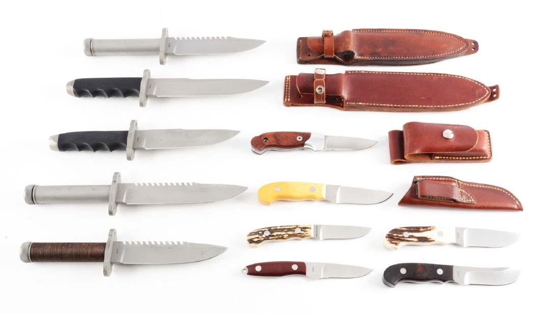 Lot of 11: Assorted Knives-Timberline Fighters,