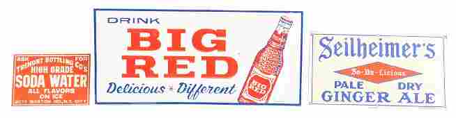 Lot Of 5 Soda Advertising Signs