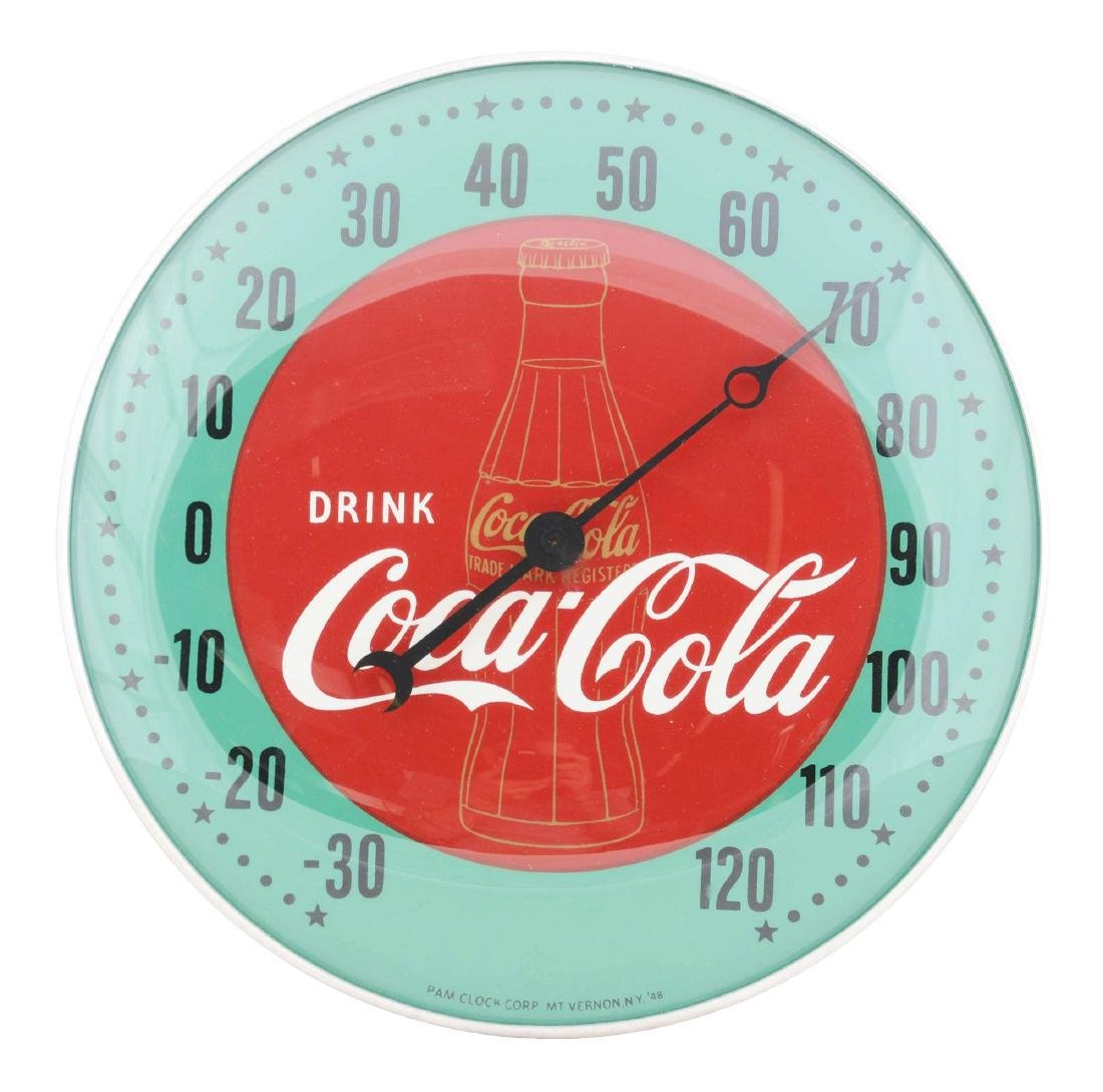 1940's Coca-Cola Pam Dial Thermometer.