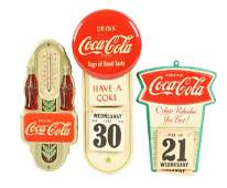 Lot Of 3 CocaCola Advertising Calendar Signs And