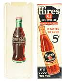 Lot Of 2 CocaCola And Hires Root Beer Signs