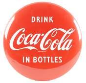 CocaCola Porcelain Button Sign