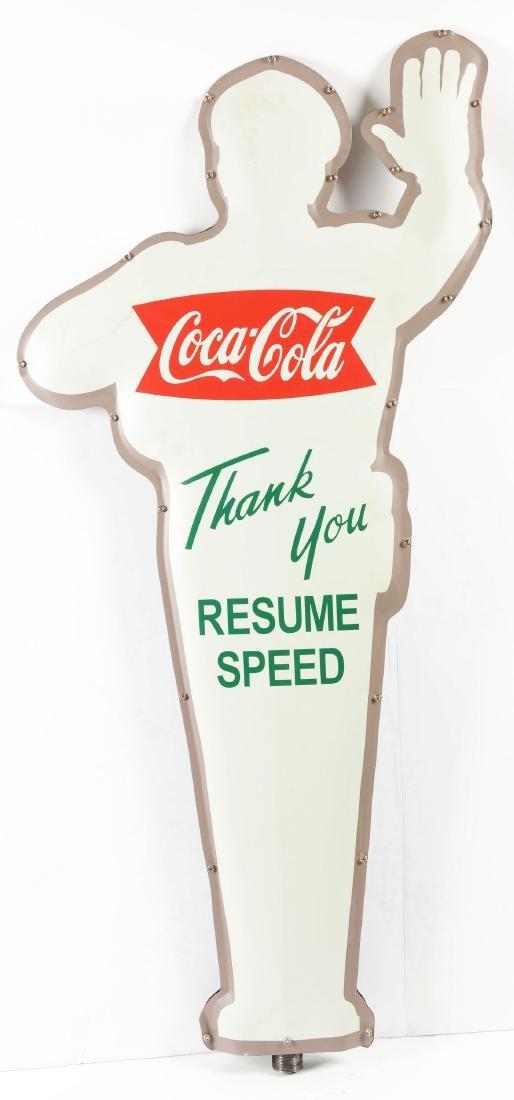 Coca-Cola Advertising Policeman Sign. - 2