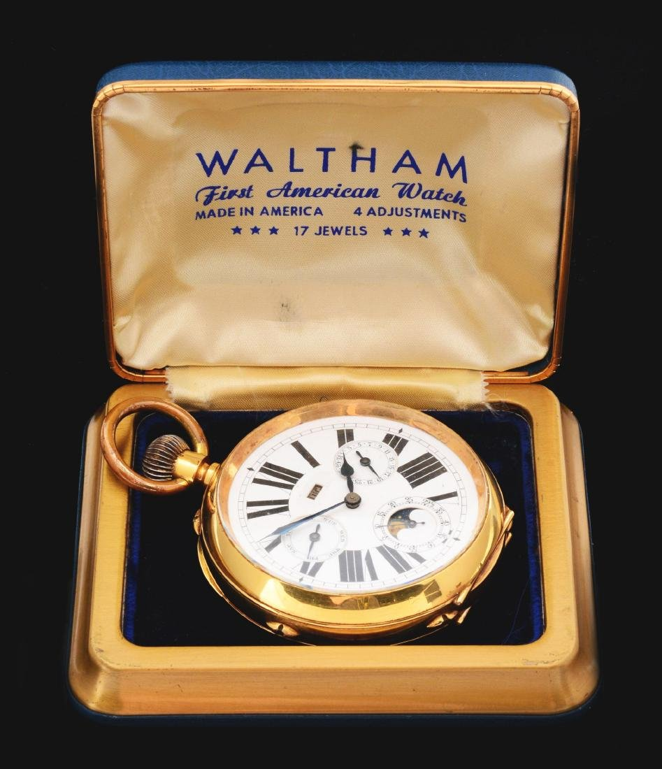 Large 18K Gold O/F Repeater Pocket Watch.