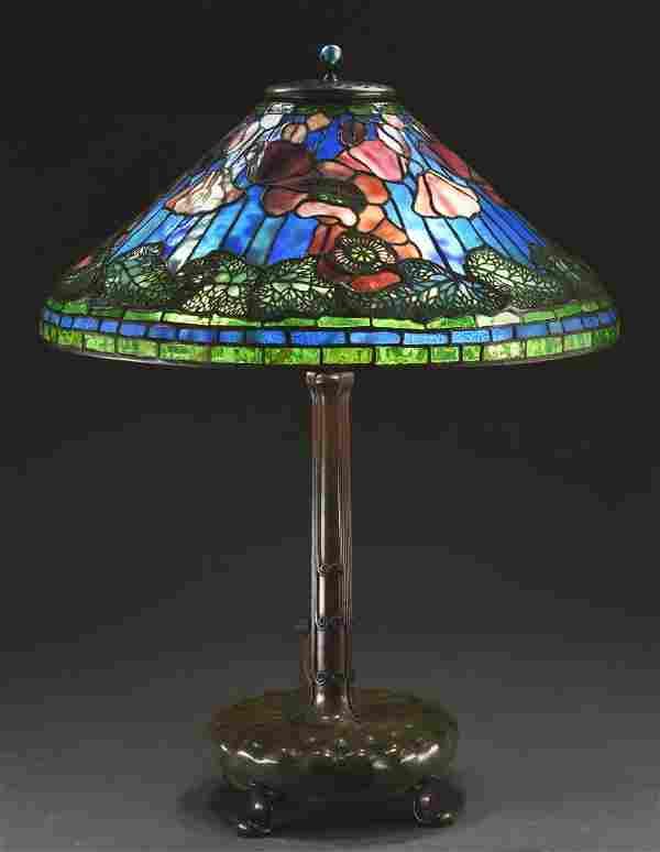 Tiffany Studios Poppy Table Lamp.