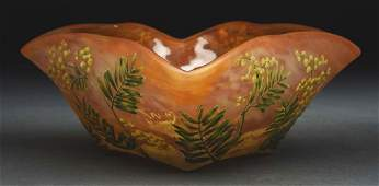 Daum Nancy Floral Cameo Bowl.