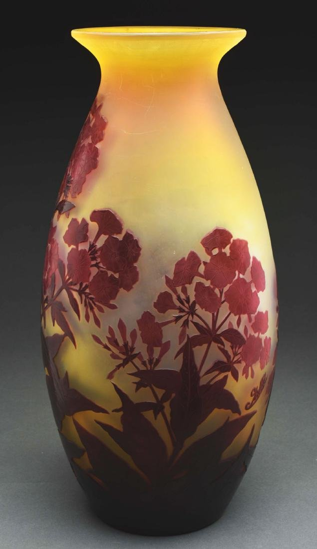 Galle Cameo Floral Vase. - 2