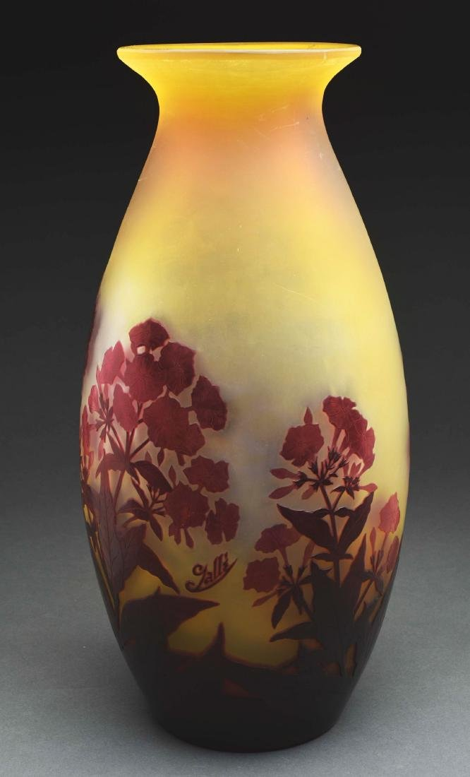 Galle Cameo Floral Vase. - 3