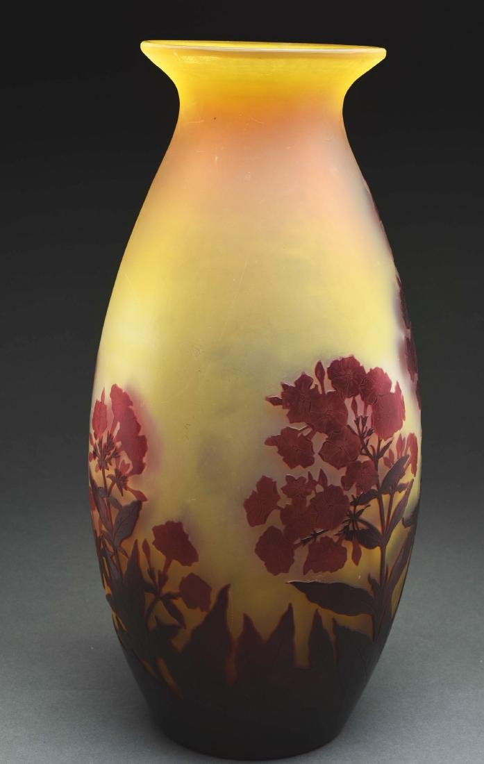 Galle Cameo Floral Vase. - 4