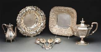 Six Sterling Silver Serving Items